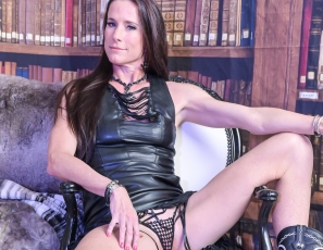 SofieMarieXXX/WW Jester Knickers Black Leather Fringe Dress